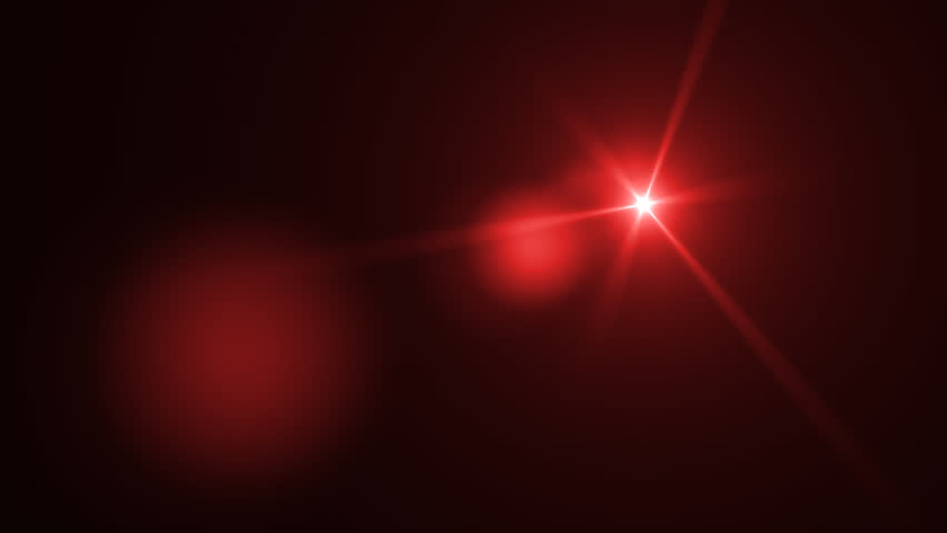 Fancy Light Effects In A Dark Background Stock Footage: Red Light Flare Effect In Dark. Optical Flare Animation
