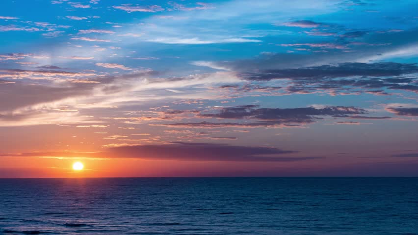 A perfect and beautiful timelapse of sunrise on ocean. Taken in summer on Myrtle Beach South Carolina.