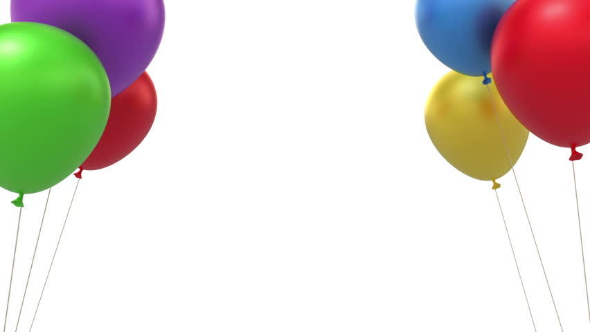 Balloons Background Loop Able 3d Animation Stock Footage Video