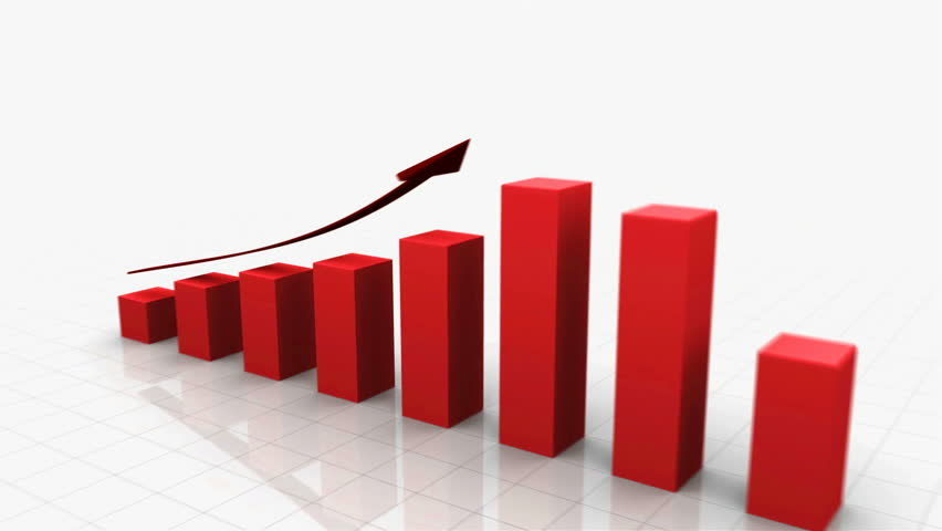 3D Growing Business Chart in Red with Climbing Arrow. Different variations of this file as well as many other business related animations available in my Contributor Gallery.