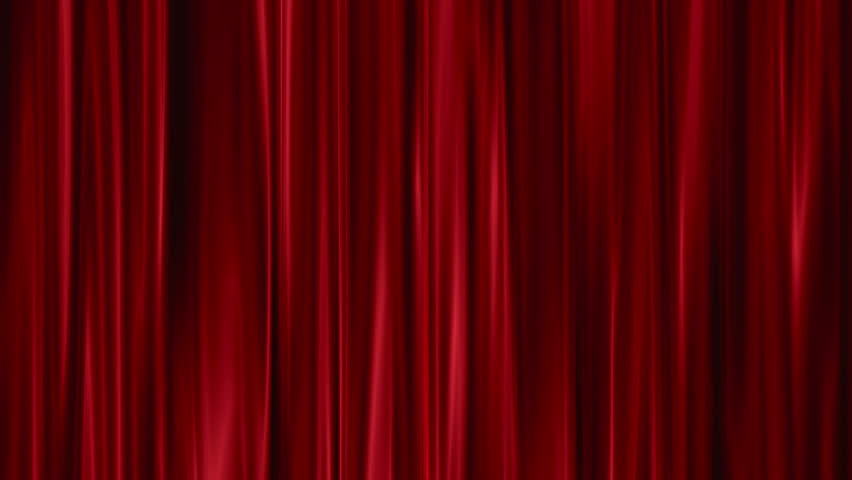 Red Curtains open  | Shutterstock HD Video #2887771