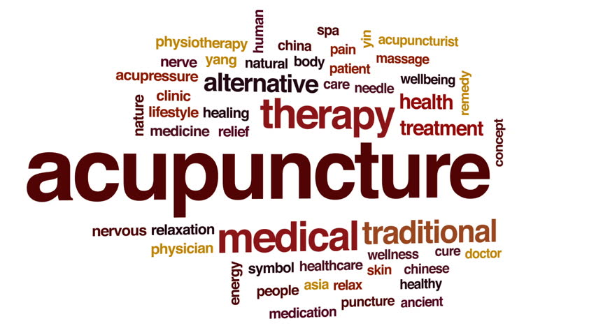 Stock Video Of Acupuncture Animated Word Cloud Text Design