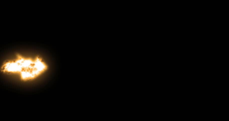 Action Film Elements - Generic Machine Gun Muzzle flashes over black for Luma Matte
