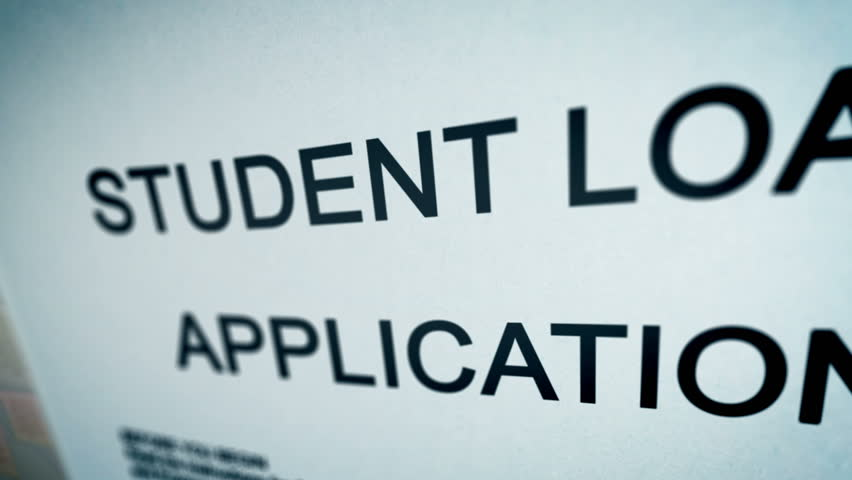 Animation video with Student Loan Application Form Concept.