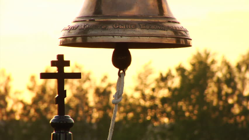 Church bell and the cross