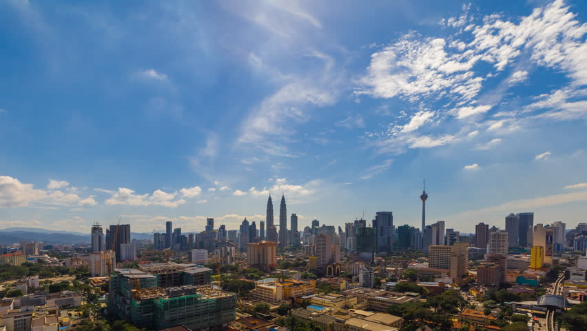 Time lapse: Kuala Lumpur city view during morning overlooking the city skyline, 4k, ProRes. | Shutterstock HD Video #28957381