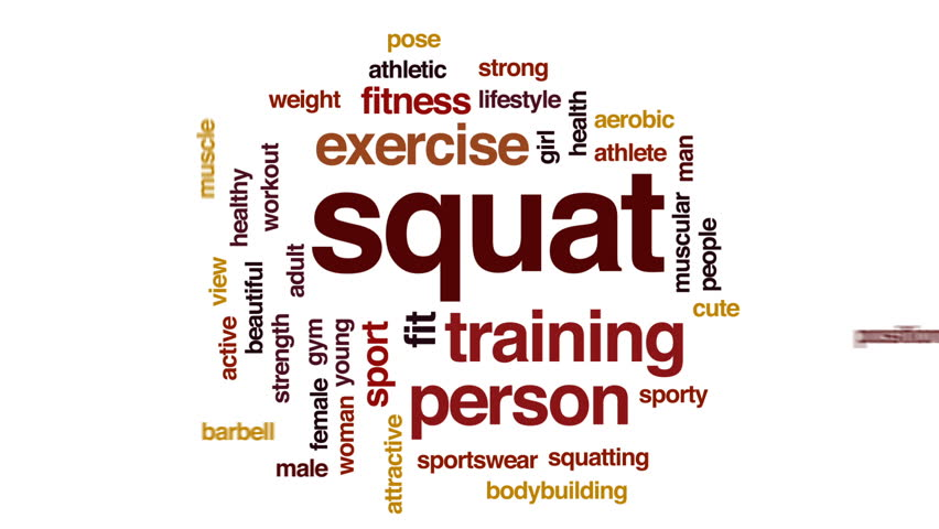 Squat animated word cloud, text design animation.