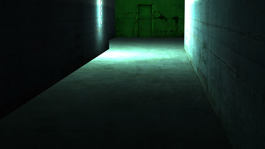 spooky lighting. Hd00:20 Walking In Spooky And Scary With Low Light Dirty Interior - Horror Scene Animation Lighting