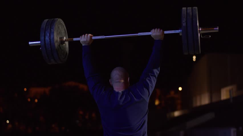 Heavy Bench Press Videos Part - 29: Weightlifter Lifts The Bar Above His Head. Strength Training With A Huge  Weight. Strong