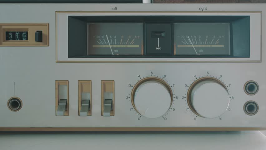 Cinemagraph Cassette Player Audio Levels