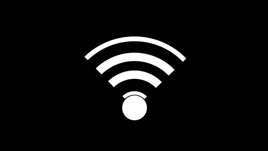 icon connection to the wifi point with a changing level of signal, wireless network icon, wifi symbol