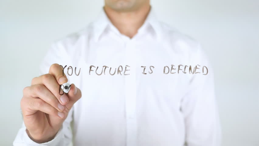 Your Future Is Defined By What You Do today, Man Writing on Glass | Shutterstock HD Video #29039101