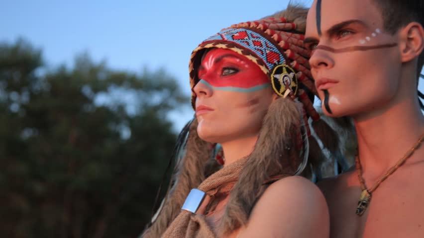Native american male makeup