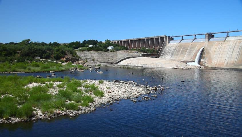 Possum Kingdom Dam in Possum Kingdom Texas.  This was shot July 22nd, 2017.