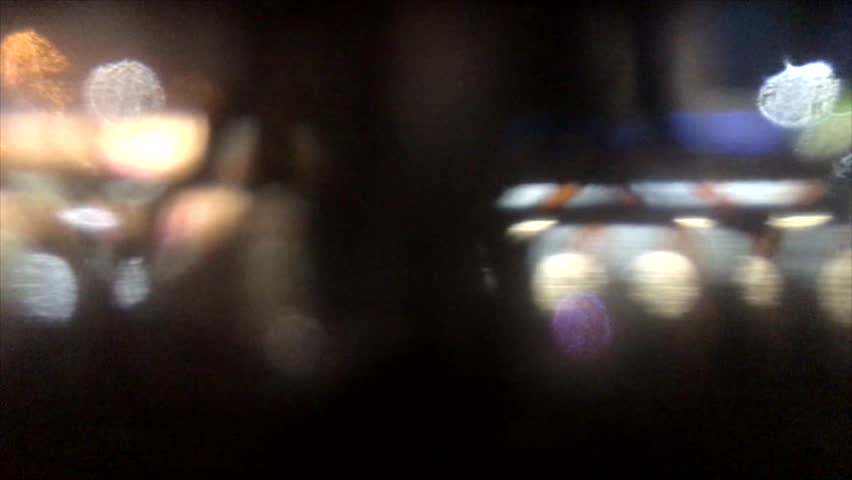 Night traffic trough the still rainy window footage | Shutterstock HD Video #29178541