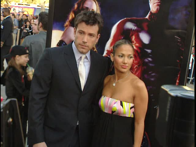 Los Angeles, CA - FEBRUARY 09, 2003: Ben Affleck, Jennifer Lopez, walks the red carpet at the Daredevil Premiere held at the Mann Village Theatre