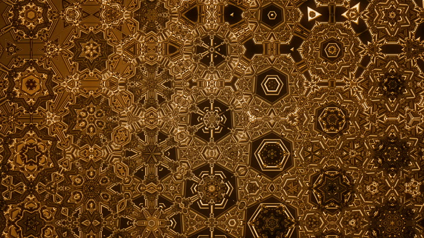 Fine crafted textures that takes the kaleidoscopic effect to the next level. Patterns evolve and loop changing the internal scale meanwhile.A random pattern lights the back of the compositions.