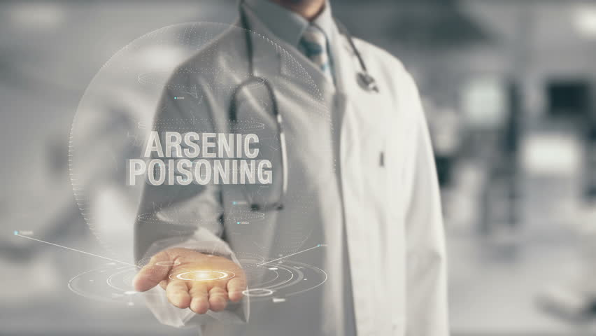 Doctor holding in hand Arsenic Poisoning