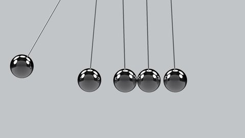 movement motion of pendulum on gray background with alpha channel.