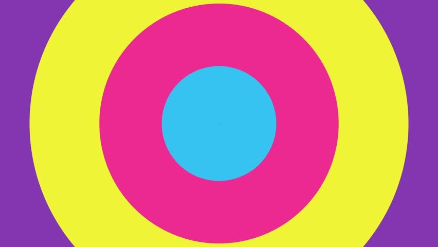 pop up circle for your ads media title. rotate colorful pink blue yellow purple popup.