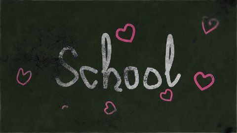 school board background with text and harts