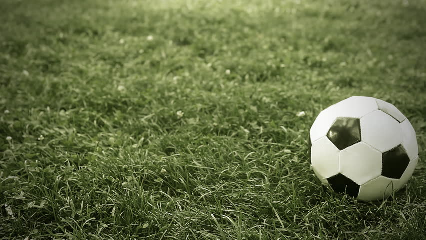 9d7697a60 Soccer Ball On the Grass Stock Footage Video (100% Royalty-free ...