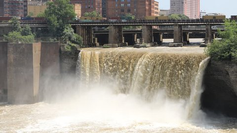 4K UltraHD Timelapse of the High Falls at Rochester, New York