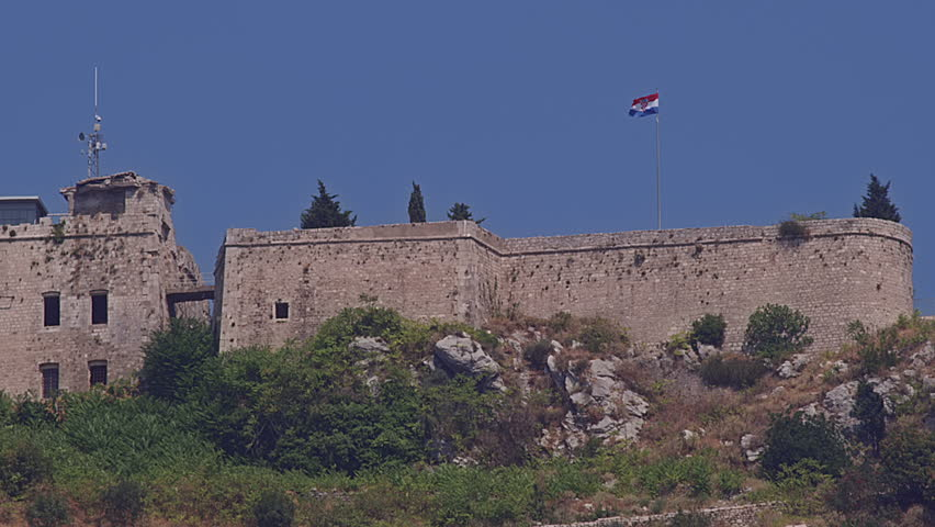 Fortress Imperial on top of the hill Srd above Dubrovnik old town, Croatia. It is the main tourists sightseeing site.