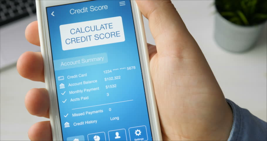 Checking credit score on smartphone using application. The result is VERY POOR | Shutterstock HD Video #29520841