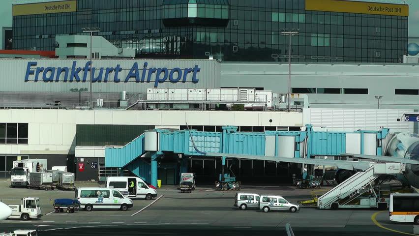 Ankunft Flughafen Frankfurt Main Morgen
