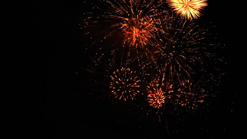 Colorful fireworks at holiday night HD 1080p | Shutterstock HD Video #2957101