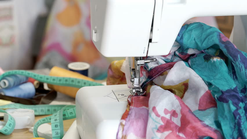 View of seamstress's studio and equipment, steadycam shot  | Shutterstock HD Video #29571421