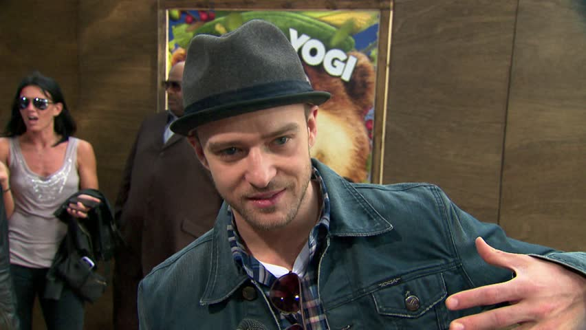 Los Angeles, CA - DECEMBER 11, 2010: Justin Timberlake, walks the red carpet at the Yogi Bear Premiere held at the Mann Village Theatre