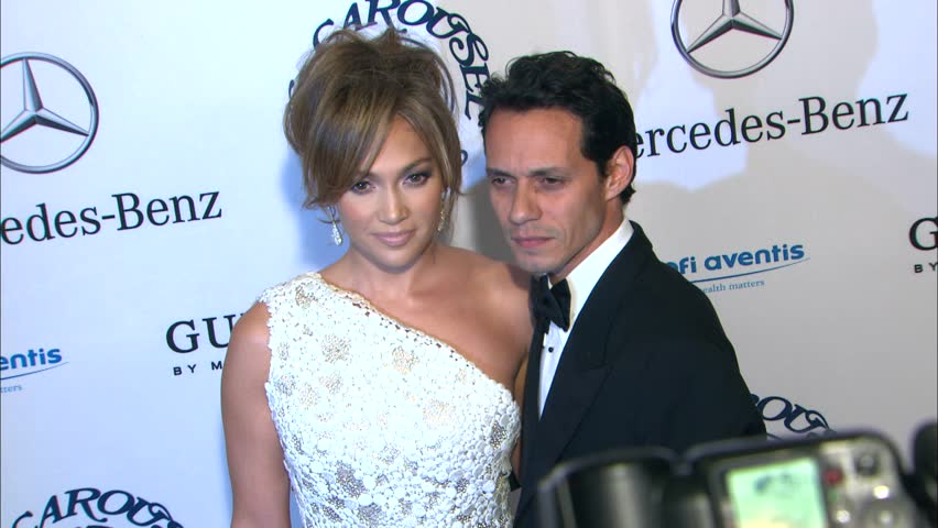 Beverly Hills, CA - OCTOBER 23, 2010: Jennifer Lopez, Marc Anthony, walks the red carpet at the Carousel of Hope Ball 2010 held at the Beverly Hilton Hotel
