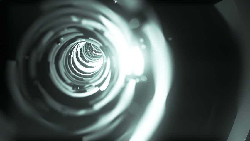 Wormhole though time and space, flashy high tech style.