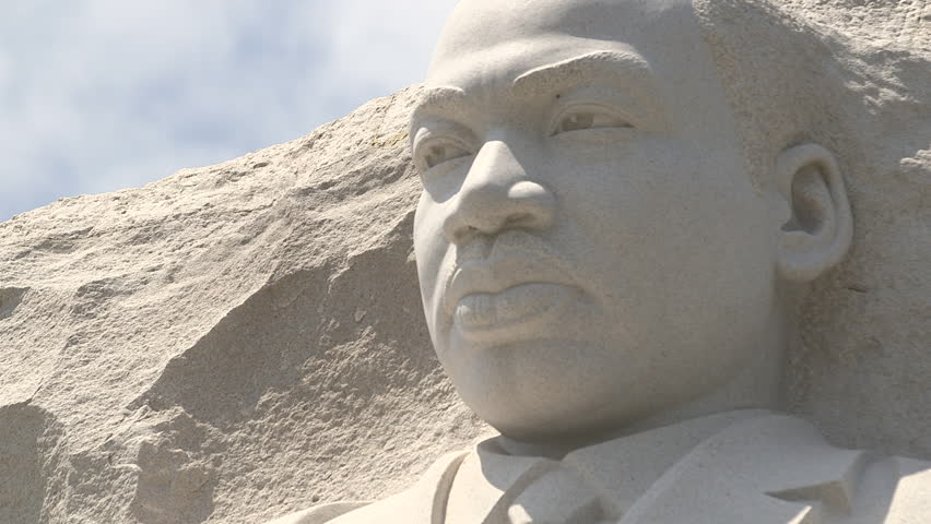 Close up of Martin Luther King Memorial in Washington D.C. in Spring 2015