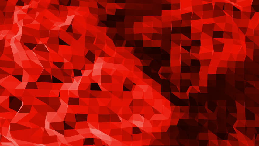 Abstract waving red low poly surface as fantastic relief in stylish low poly design. Polygonal mosaic background with vertex, spikes. Red low poly background. Cartoon modern 3D design | Shutterstock HD Video #29644021