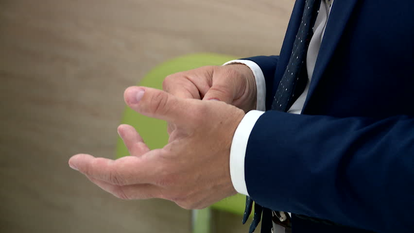 Hand man during the interview | Shutterstock HD Video #29648491