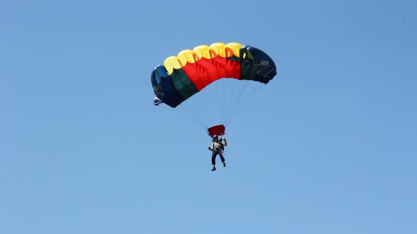 Flying on a parachute