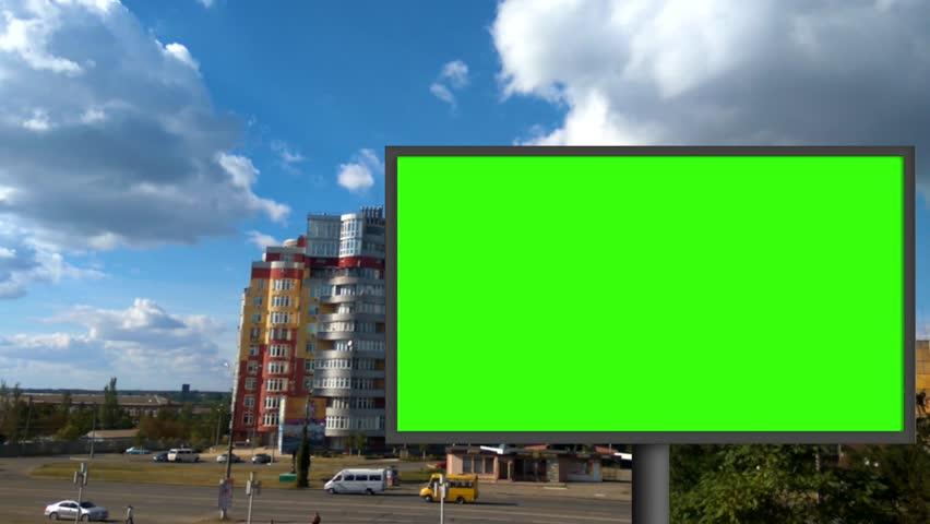 Billboard with a green screen | Shutterstock HD Video #29771029