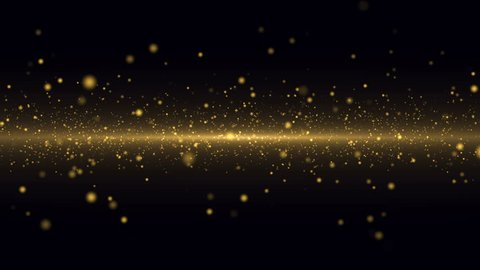 Gold Particles Background. Loop