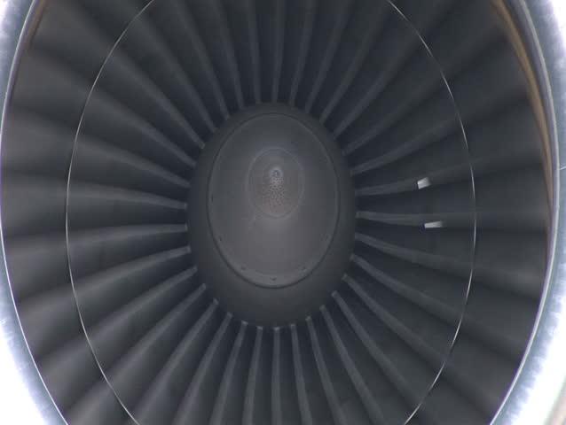 Big cargo jet's turbine rotating. SEAMLESS LOOP | Shutterstock HD Video #298591