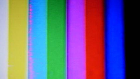 VHS Tape Color Bars Test Pattern Damage. Color bars test pattern.