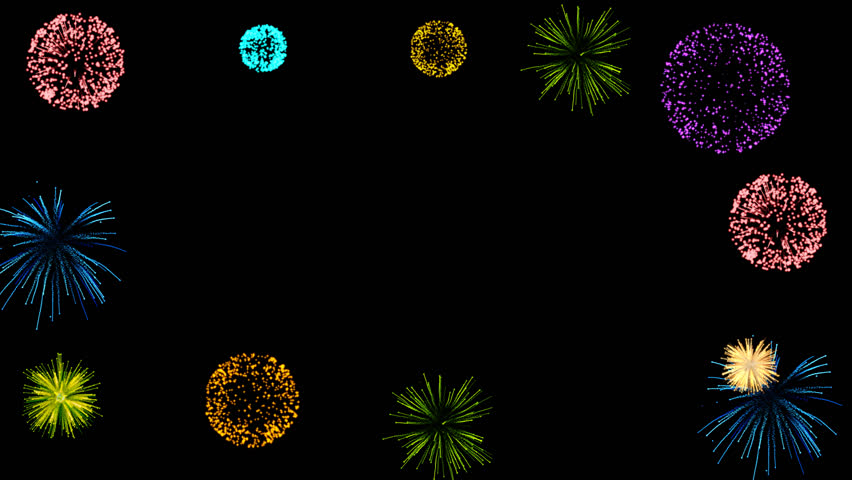 Fireworks Frame -Alpha channel file