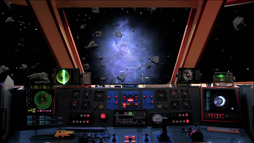 Spaceship Control Panel Stock Footage Video 1960291