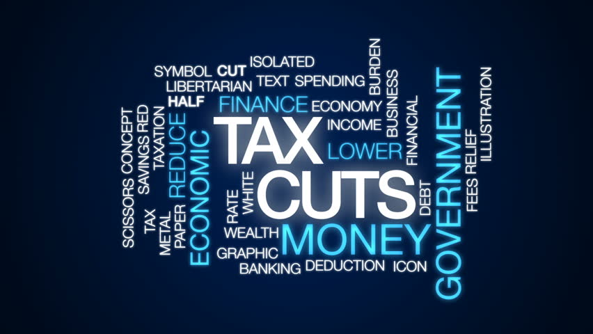 Tax cuts animated word cloud, text design animation. | Shutterstock HD Video #29921161
