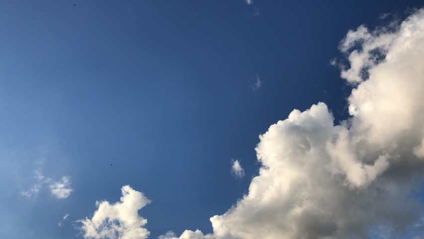 Cloudy dramatic blue sky and white clouds #29961421