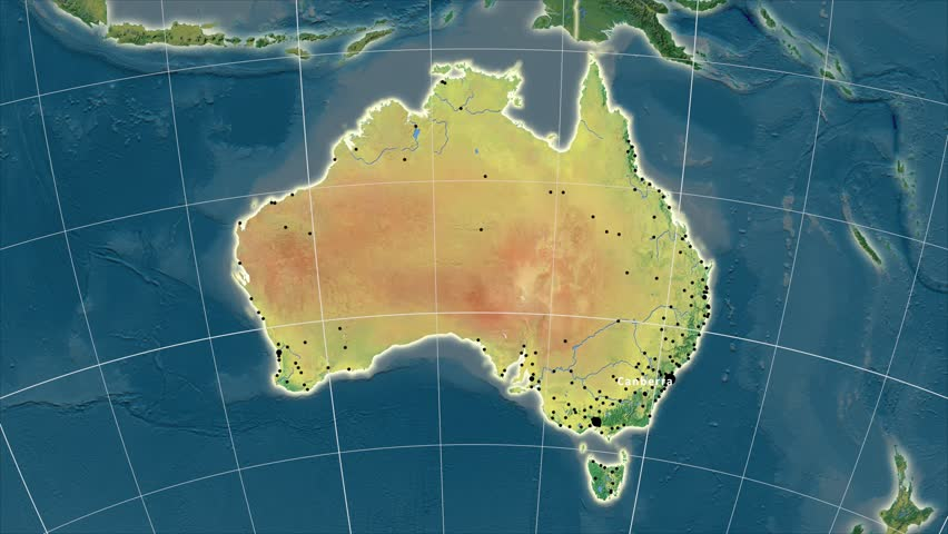 Victoria Extruded On The Physical Map Of Australia Rivers And - Australia elevation data