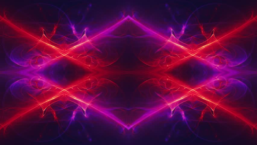 Futuristic Modern Dynamic Symmetry Background with Flame Fractal Animation for Special and Visual effects applications and future technology design.  Ultra fine resolution, structure and details.