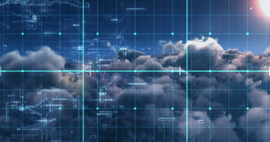 Digitally generated of binary code against white clouds 4k | Shutterstock HD Video #30014881